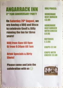 Angarrack Inn 3rd year anniversary party